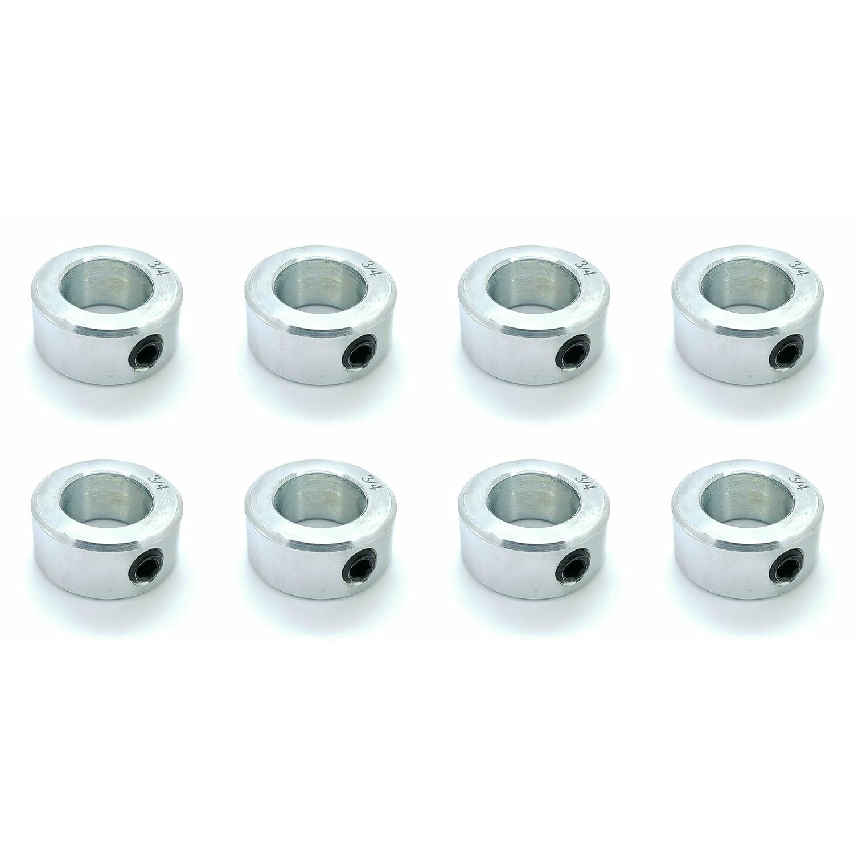 "4 Steel Shaft Collars 3//8/"" inch bore c//w grub screws  Precision Machined"