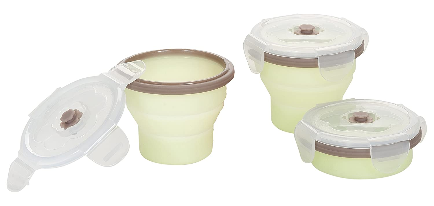 Babymoov Air Tight Leak Proof Storage Food Containers Set (12 Pack), 12pcs + 3 Spoons A004310