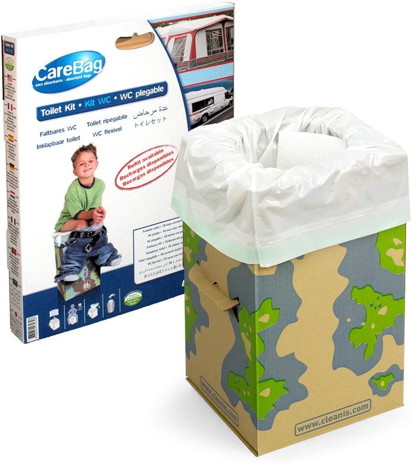 Care Bag 9829183 - Inodoro plegable, incluye 12 bolsas absorbentes ...
