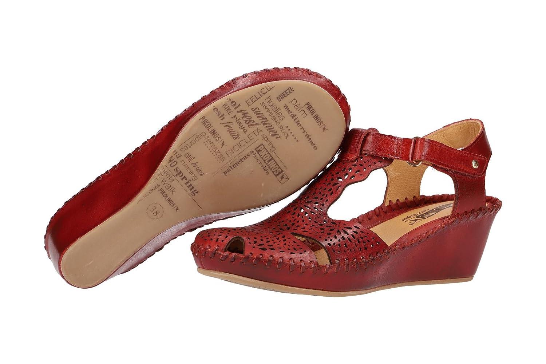 Pikolinos 943-0985 Margarita Margarita Margarita Schuhe Damen Keil Sandalen Sandaletten Rot 320e23