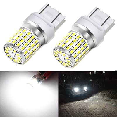Phinlion 2000 Lumens 7440 7443 LED White Bulbs Super Bright 3014 72-SMD T20 7440 7443 7444 LED Bulb for Back-Up Reverse/Turn Signal/Brake Stop Tail Lights, 6000K Xenon White: Automotive