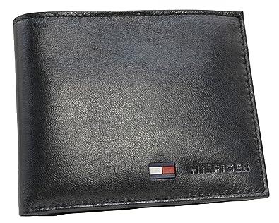 e54510fd68d9 ( トミーヒルフィガー ) TOMMY HILFIGER 二つ折財布 小銭入れ付き 31TL25X020 黒 ブラック レザー
