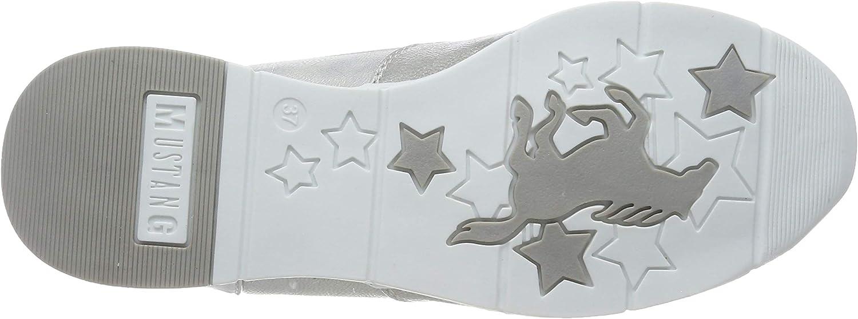 Mustang 1303-301-21, Scarpe da Ginnastica Basse Donna Argento Silber 21