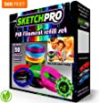 NONTOXIC 3D Pen Filament Refill Kit - 20 Colors - 500 Feet - Universal 1.75mm PLA Filament - 25' Per Color - SketchPro