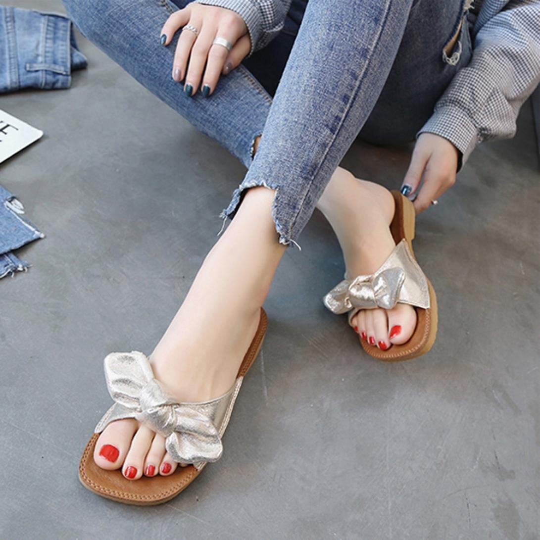 Inkach 7367 Damen Keil Sandalen Flip-Flops Mode Sommer Chunky Heeled ...