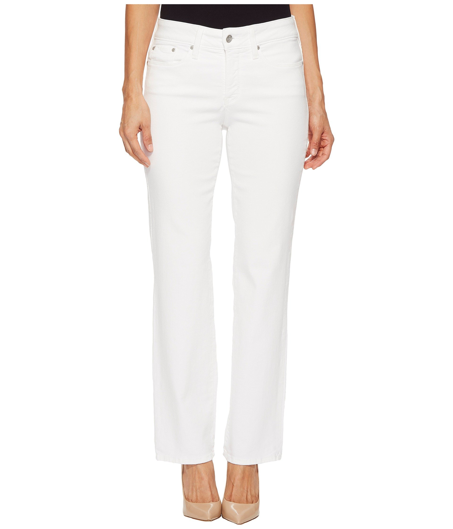 NYDJ Women's Petite Marilyn Straight Leg Jean, Optic White, 0P