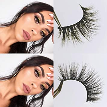 ab8e0f76f25 Amazon.com : CGlashes Sweet Romance Luxury 3d Mink False Eyelashes  Hand-made Reusable Top Quality 1 Pair Package (V-3D05) : Beauty