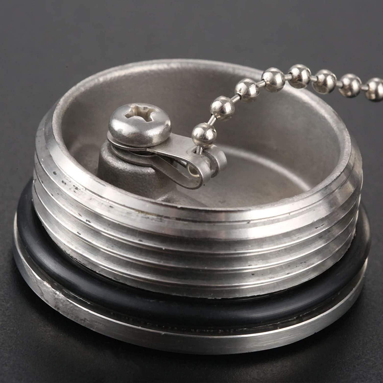 in acciaio INOX 316 5 cm Tappo per rifornimento di carburante POFET