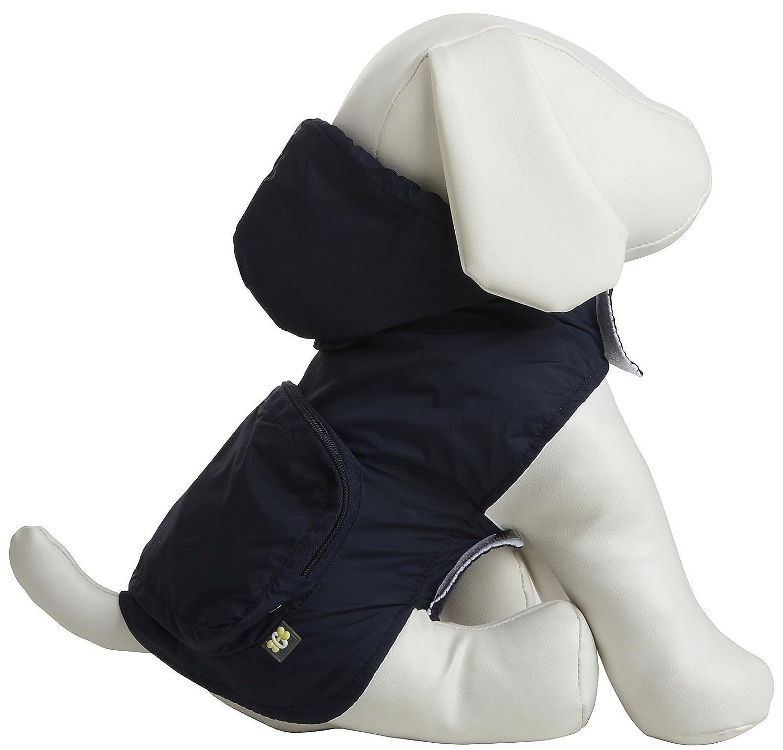 Fab Dog Pocket Travel Raincoat Navy X-Small