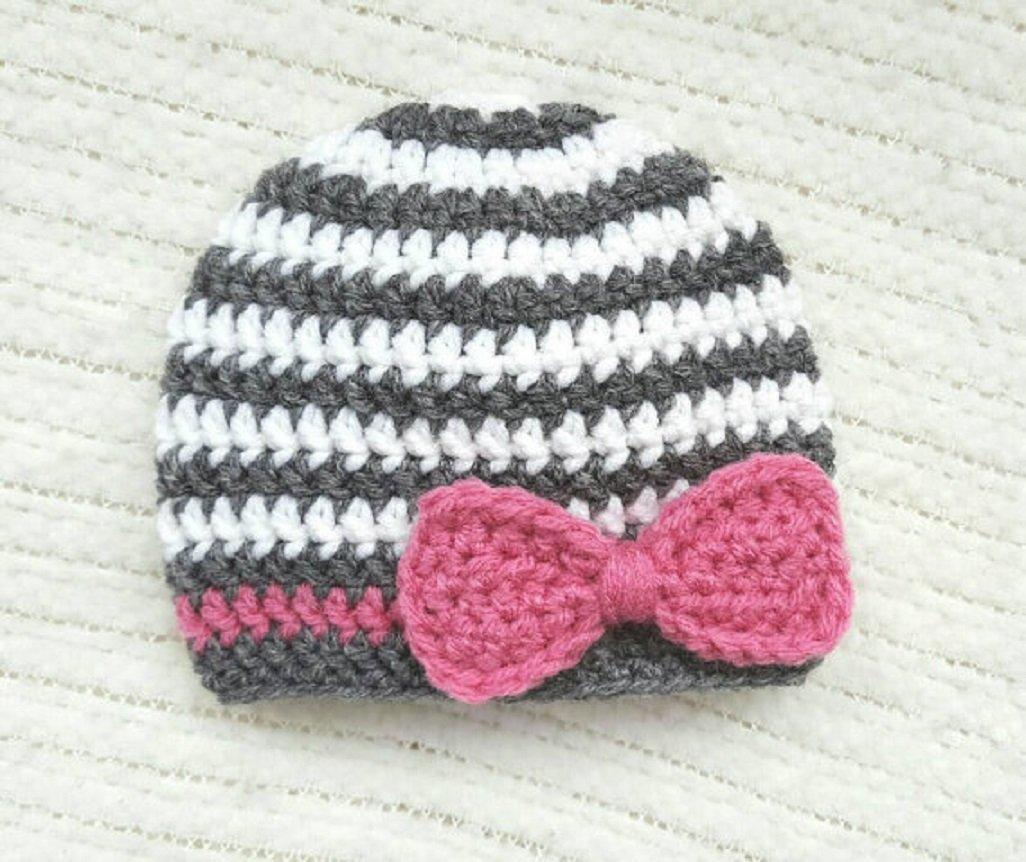 Ready to Ship Crochet Baby Girl Hat Crochet Baby Hat Baby Girl Beanie CoralPink Color Photo Prop 6 to 12 Months