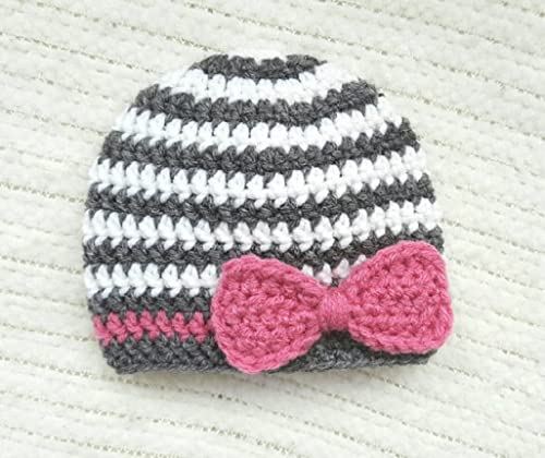 shower or christening gift for a newborn girl, Crochet baby hat beanie hat