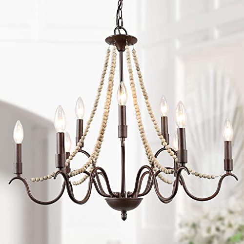 LALUZ White French Country Chandelier