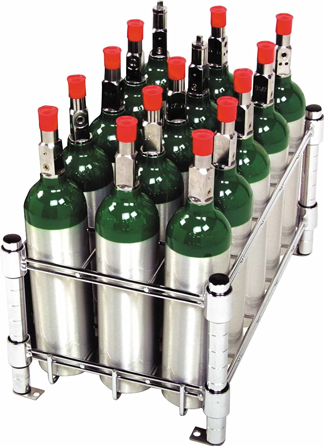 Amazon.com: M6 Oxygen Tank Cylinder Storage Rack   Holds 15 Tanks: Health U0026  Personal Care