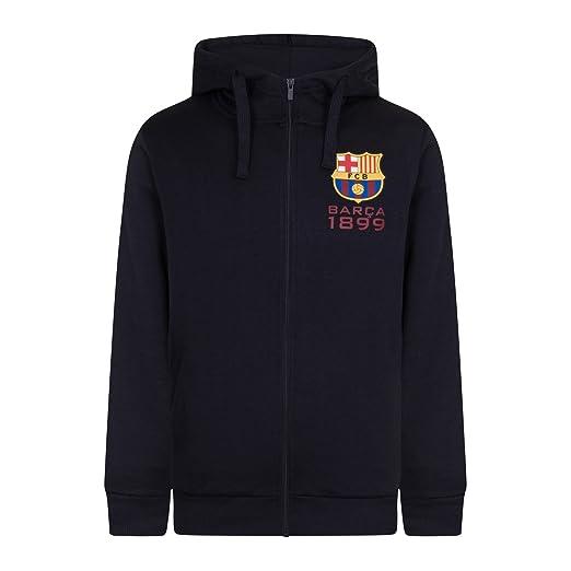 FC Barcelona - Sudadera oficial con capucha y cierre de cremallera - Para hombre - Forro polar: Amazon.es: Ropa y accesorios