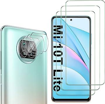 Oferta amazon: GESMA para Xiaomi Mi 10T Lite 5G Protector de Pantalla (3 Piezas) + para Xiaomi Mi 10T Lite 5G Protector de Lente de Cámara (3 Piezas), Cristal Templado de HD Anti-arañazos
