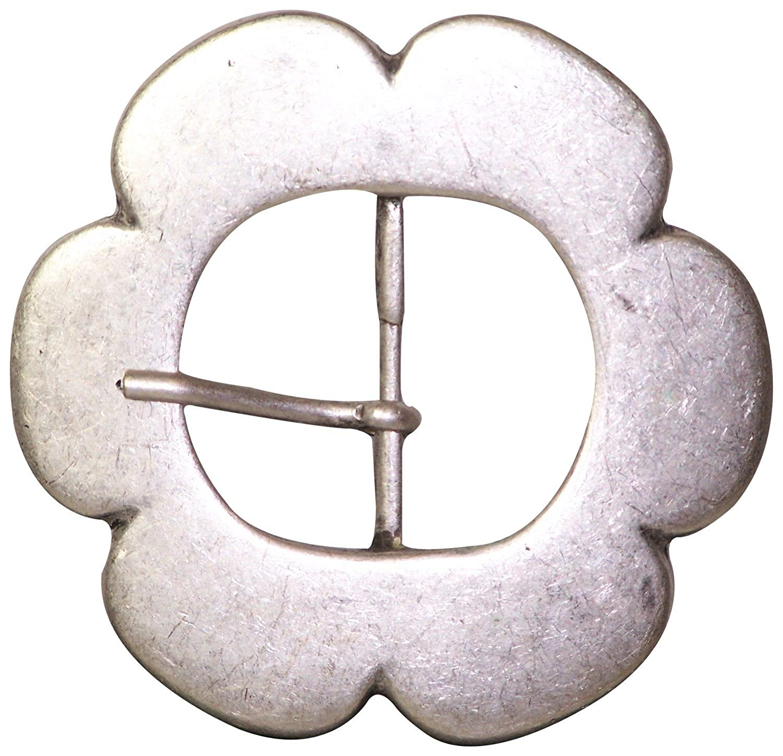 Motivschnalle in Blumenform G/ürtelschnalle f/ür Damen f/ür 4cm G/ürtelriemen altsilber FRONHOFER 17622