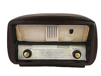 Adorno de radio hecho de resina, estilo retro antiguo, decoración del hogar, regalo de inauguración de la casa: Amazon.es: Hogar