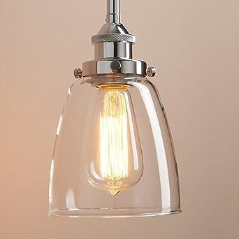 Lightsjoy Hängeleuchte Vintage Glas Pendelleuchte Industrial Hängelampe  Retro Industrie Lampen Hängende Deckenleuchte E27 für Esszimmer Esstisch ...