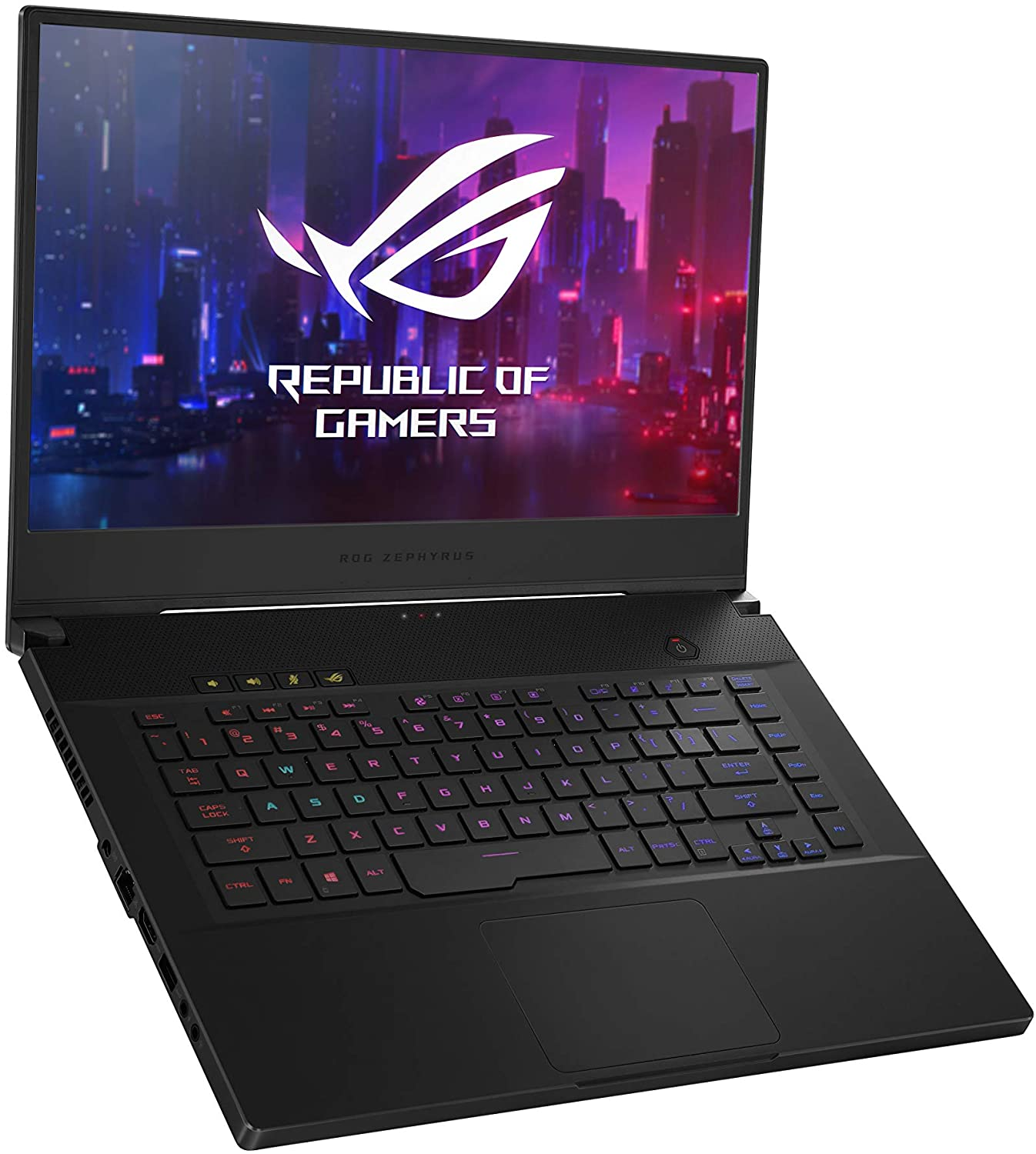 Amazon Com Asus Rog Gu502gw Ah76 Zephyrus M Thin And Portable Gaming Laptop 15 6 240hz Fhd Ips Nvidia Geforce Rtx 2070 Intel Core I7 9750h 16gb Ddr4 Ram 1tb Pcie Ssd Per Key Rgb Windows 10