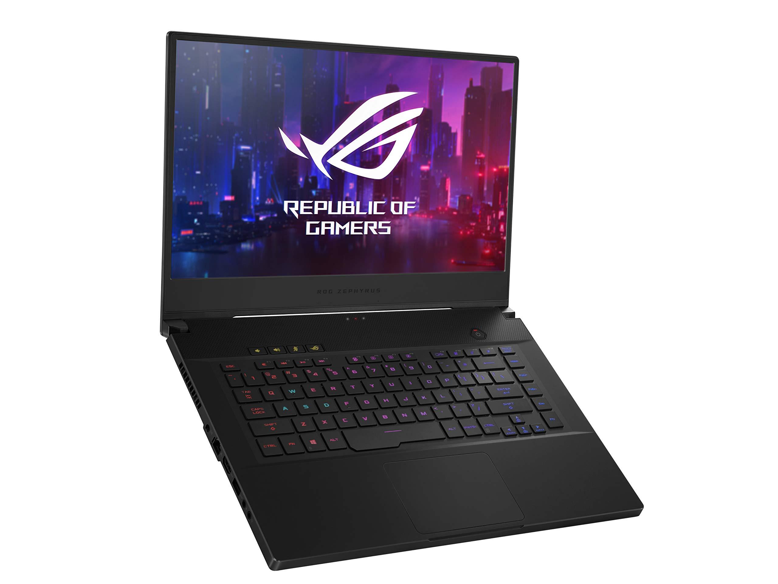 "ROG Zephyrus M Thin and Portable Gaming Laptop, 15.6"" 240Hz FHD IPS, NVIDIA GeForce RTX 2070, Intel Core i7-9750H, 16GB DDR4 RAM, 1TB PCIe SSD, Per-Key RGB, Windows 10 Home, GU502GW-AH76"