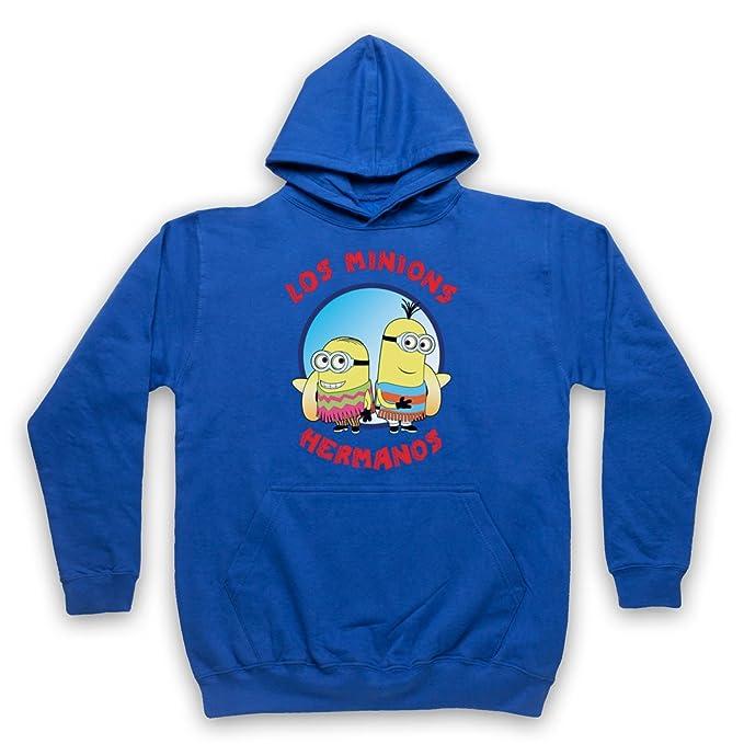 Los Minions Hermanos Funny Pollos Parody Adultos Sudadera con Capucha, Azul Real, XL: Amazon.es: Ropa y accesorios