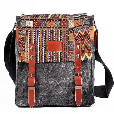 Amazon.com: Trend Retro estilo étnico Diagonal Bolsa De ...