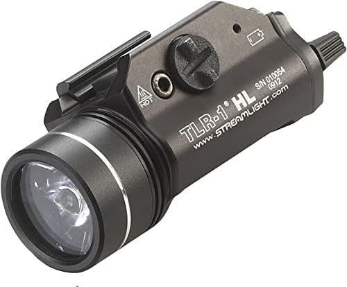 Streamlight 69260 TLR-1 HL 1000-Lumen Tactical Weapon Mount Light With Rail Locating Keys Lithium Batteries, Black Box Packaged