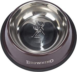 Browning Stainless Steel Dog Bowls, Outdoor Style Dog Food Bowl