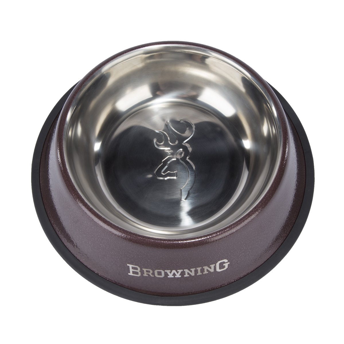 Browning Stainless Steel Pet Dish Hunting Dog Food Bowl, Stainless Steel, 9'', Bronze, Large by Browning