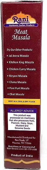 Rani Brand Authentic Indian Products 100g Grupo Masala Rani carne Masala 100 g - Carne Masala