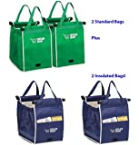 FOUR GRAB BAG SHOPPING BAGS by TELEBRANDS