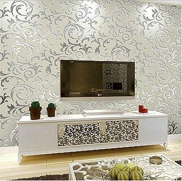 Hu0026M Wallpaper Vlies Retro Pastoral Damast 3D Relief Wasserdicht Tapete  Dekoration Schlafzimmer TV Wand Wohnzimmer Tapete