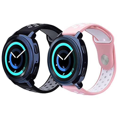 Galaxy Watch 42mm Band/Gear Sport Band - VIGOSS 20mm Silicone Watch Band Replacement Strap