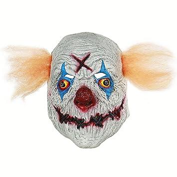 BESTOYARD Halloween Coser la Boca máscara de Payaso con el Pelo del Traje de Halloween Parte