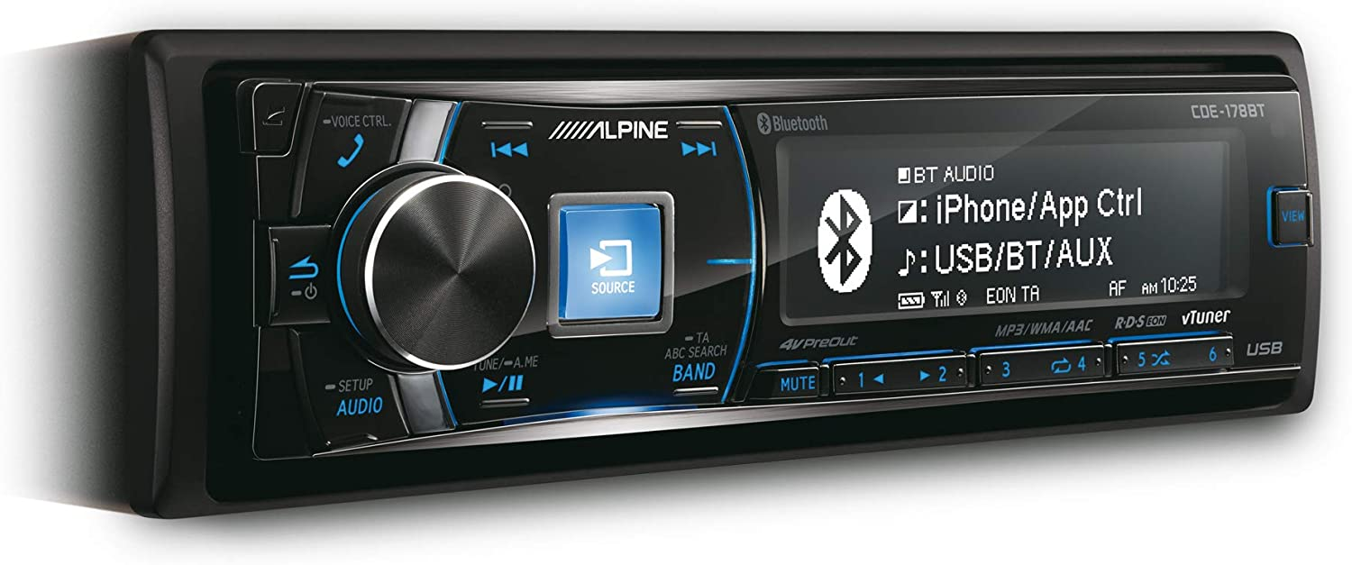 Alpine CDE-178BT Radio CD, 50Wx4. Mp3, WMA, Bluetooth