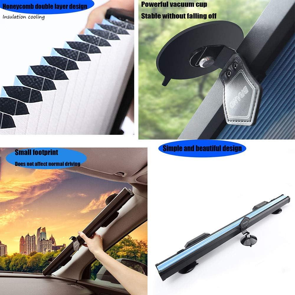 BINGFENG Auto Automatisch Versenkbarer Sonnenschutz f/ür Windschutzscheibe UV-Schutz Sonnenblende Sun Block Beige-Front Sunshade for BMW 1 Series