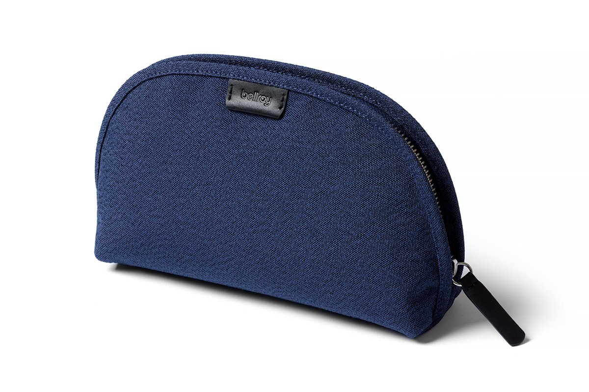 Bellroy Classic Pouch, everyday kit, woven fabric (pens, cables, cosmetics, personal items) - Ink Blue