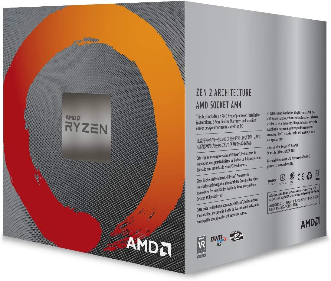 AMD Ryzen 5 2600 - Procesador AM4, 3.4 Ghz