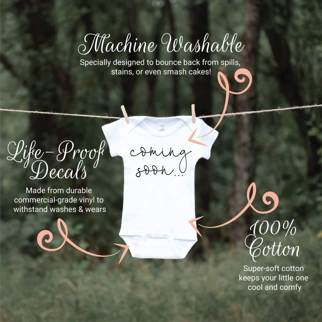 Bump and Beyond Designs Surprise Pregnancy Announcement Grandparents Coming Soon: Clothing