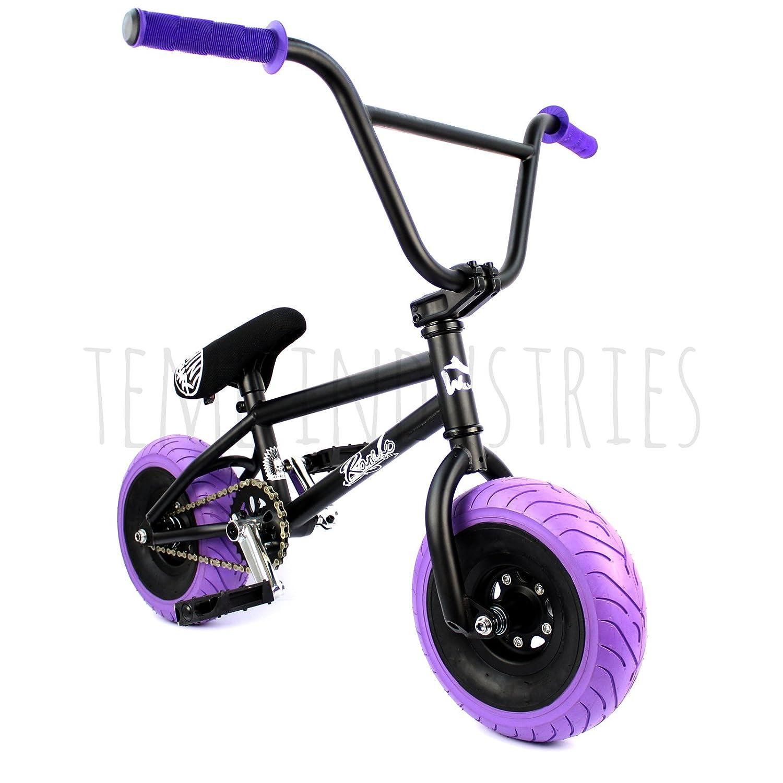 Mini bicicleta BMX Wildcat Ltd. a medida, negro y morado, manillar ...