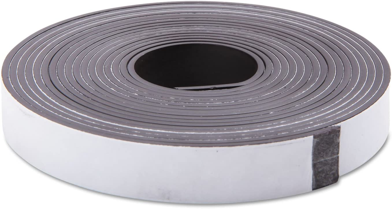 Baumgartens 66010 Adhesive-Backed Magnetic Tape Roll Black 1//2-Inch x 10ft