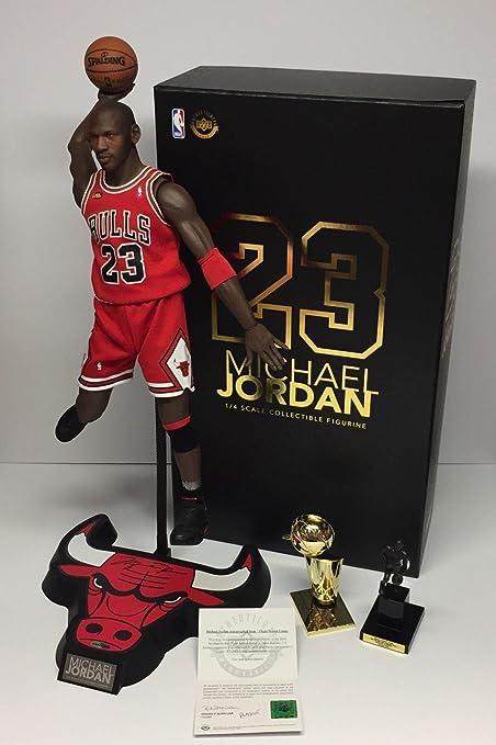 9d8a9bdc84b326 Michael Jordan Autographed Basketball - Enterbay HD 1 4 Action Figure Brand  New COA -