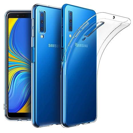EasyAcc Coque Pour Samsung Galaxy A7 2018 Etui Transparent Antiderapant Compatible Avec