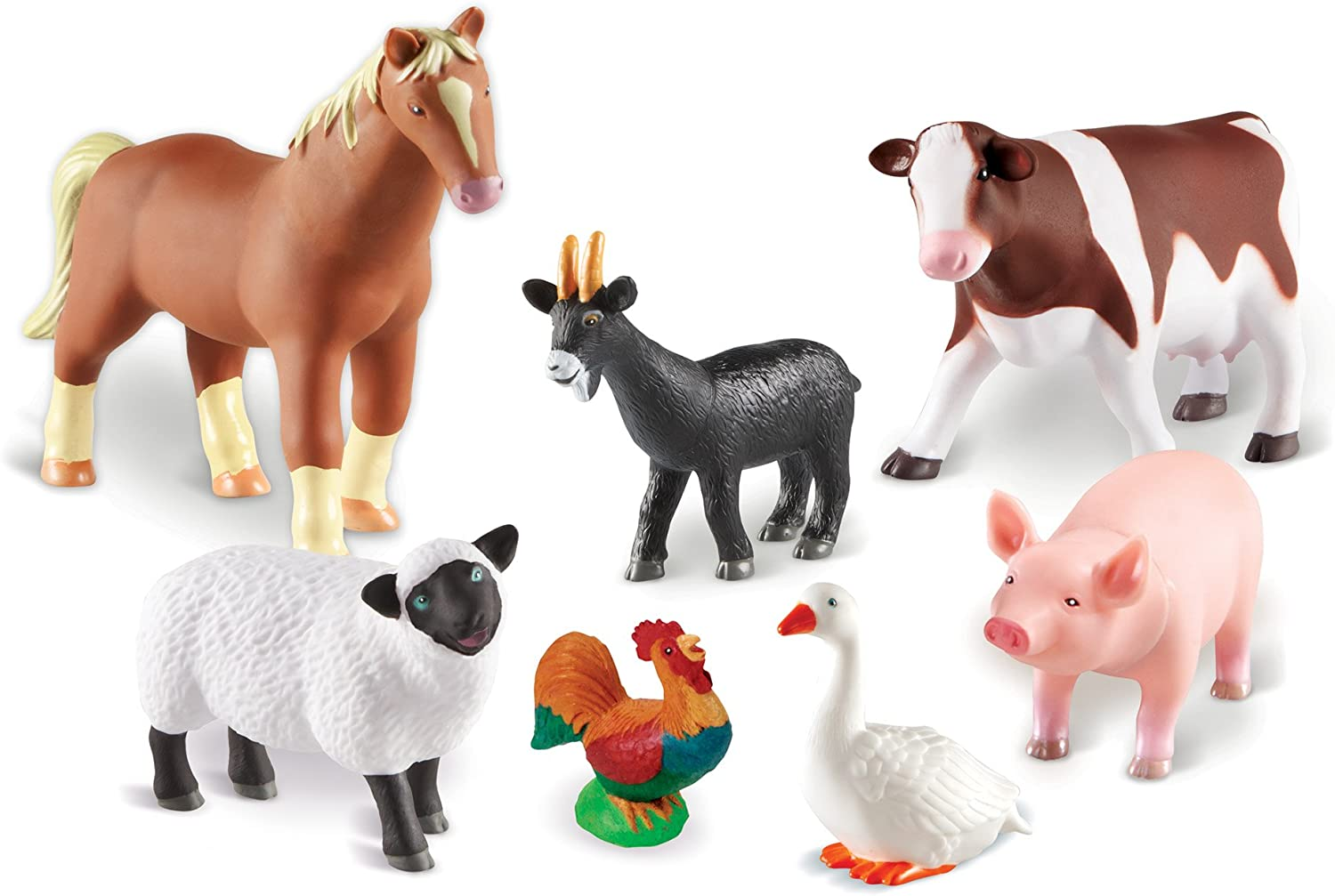 Learning Resources- Animales de Granja Jumbo, Color (LER0694)