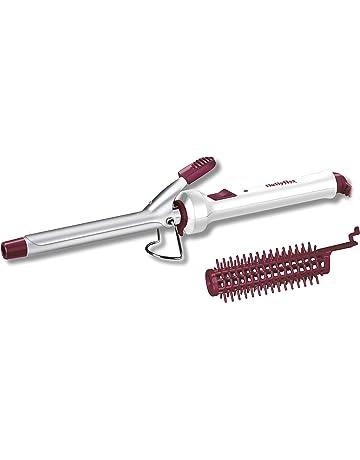 BaByliss 271CE - Tenacillas de pelo para rizos pequeños con cepillo extraíble para ondas suaves y