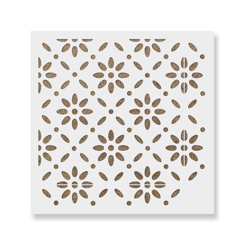 Furniture Reusable Floor /& Backsplash Scandinavian Tile Stencils for Home Decor and Walls 16x16 Bjorn Tile Stencil