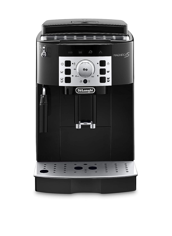 Delonghi super-automatic espresso coffee machine with an adjustable grinder, manual cappuccino maker, for brewing espresso, cappuccino, latte. ECAM22110B MagnificaS