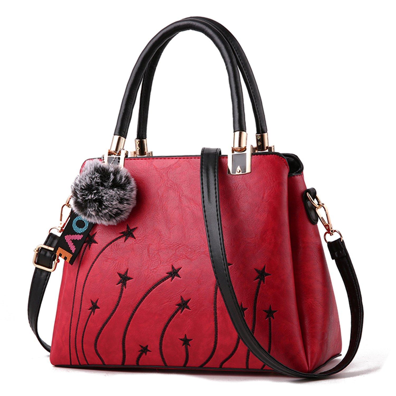 Women Purses and Handbags Top Handle Satchel Shoulder Tote Bags Fashion Leather Girls Crossbody Bag