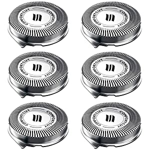 SH30 Replacement Heads for Philips Norelco Series 3000, 2000, 1000 Shavers and S738 Click and Style, ComfortCut Shaving Heads 6 Pack