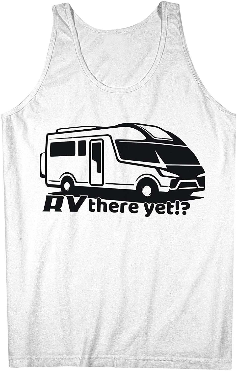 RV There Yet Recreational Vehicle Funny Traveling Mens Tank Top Sleeveless Shirt